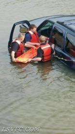 MVC Car into water